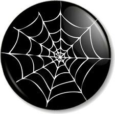 """Spider Web (2) 1"""" 25mm Pin Button Badge Halloween Fancy Dress Party Novelty Fun"""