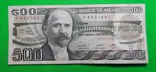7Ago84 Quinientos Pesos $500 Banco De Mexico F5431861 Circulated 61