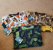 NWT-Lot of 3 Carter's cozy fleece footed pajamas, toddler boy, size 4