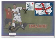 2002 Limited Edition England Coin Cover with a £1 Coin dated 2002