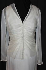 NWT Size 6 ivory chiffon second wedding dress/matching jacket, Jasmine formal