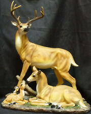 """""""Peace"""" Deer Family Statue 10 point Buck wth Mother Deer & Baby Deer ~ Awesome"""