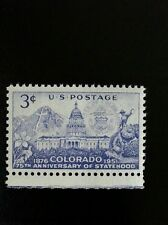 1951 3c Colorado Statehood, 75th Anniversary Scott 1001 Mint F/VF NH