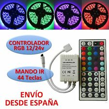 Télécommande RGB Bande de Led 5050 + Manette 44 touches Infrarouge 12/24v