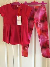 Ted Baker Girls Textured Top And Floral Leggings Set. 2-3 Years. BNWT.