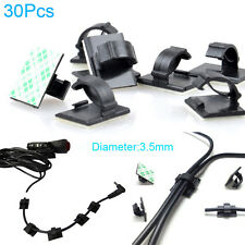 30Pcs 3M Self-adhesive Wire Tie Cable Clamp Clip Holder for Car DVR detector GPS