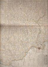 Missouri Southern Part Century Atlas 1897 Antique Map #31 11 3/4 x 16