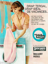 PUBLICITE ADVERTISING 115  1964  les draps Descamps L' Ainé & Wallaert Frères