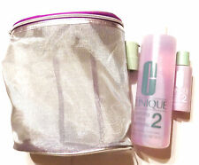 Clinique Clarifying Lotion 2 w/ Pump 16.5 fl oz & 2oz Travel in Silver Mesh Bag