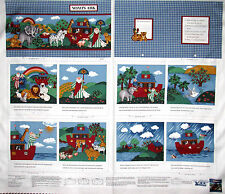 Bible Story Noah's Ark Religious Kids Cotton Fabric ~ Storybook Project PANEL