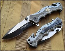 "BOKER MAGNUM HERO SPECIAL WEAPONS AND TACTICS RESCUE FOLDING KNIFE 4.5"" CLOSED"