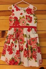 *MINI BODEN* Girls Rose Floral Print Dress with Pockets Size 3-4Y