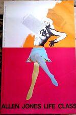33 x 22.5 Allen Jones Life Class 1968 London Basel Poster Rare