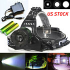 3000Lumens CREE XM-L T6 Rechargeable Led Headlamp Headlight +2X18650 Battery