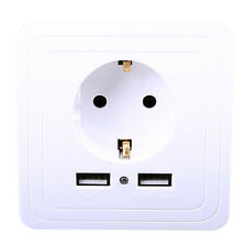 2Port USB Wall Charging Socket Panel Electrical Power Outlet Charging Receptacle