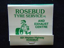 ROSEBUD TYRE SERVICE P/L AND EXHAUST CENTRE 831 NEPEAN HWY 059 863590 MATCHBOOK