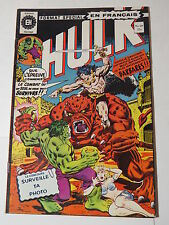 HULK 60  B&W French comic Heritage Marvel 201  from 1976