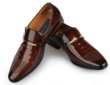 Best Mens Classic Patent Leather Business Pointed Toe Slip On Dress Formal Shoes