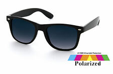 Black Wayfarer Sunglasses With Polarised Lens Retro Vintage Mens Ladies Unisex