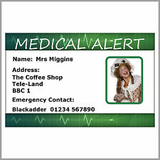 Emergency Medical Alert Identity Card. Asthma, Diabetes Warfarin.