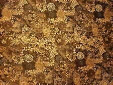 "108"" Quilt Backing Batik Tonal Chocolate Floral! By the yard/100 % Cotton"