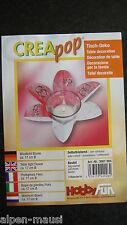 """Creapop-Windlicht""""Blume""""17 cm Durchm.Folie-Tischdeko.-Bastelpackg.2Stk. Inhalt"""