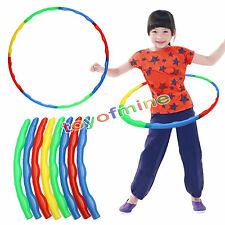 Bunte Kid Hula Hoop einstellbare Kind Sport Aerobic Fitness Gymnastik