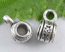 Free Ship 100pcs Tibetan Silver Bali style bails 9x5mm