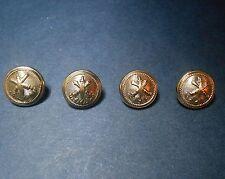 Lot de 4 boutons militaire artillerie glaive & canons