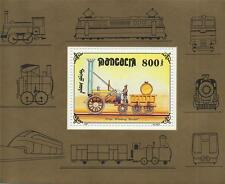 LOCOMOTIVE STEAM TRAIN RAILWAY ROCKET TRAIN M GALT 1997 MNH STAMP SHEETLET