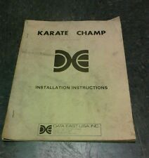 Data East KARATE CHAMP Arcade Video Game Manual - good used original