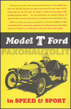 Model T Ford in Speed and Sport - Race Parts - Racing History - How-To