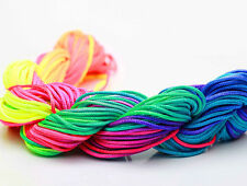 Rainbow Color 28M/roll 1mm Chinese Knotting Nylon Thread Cord  Bracelet Rope