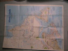 ATLANTIC CANADA MAP THE MAKING OF CANADA National Geographic October 1993 MINT