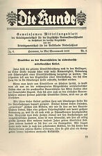 Die Kunde Jg. 6 Nr. 5, Sinnbilder Bauernhäuser Niedersachsen u Mitteldtl., 1938