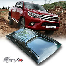 Gloss Black Bonnet Scoop Hood Vent Cover For Toyota Hilux Revo M70 M80 2015-2017