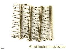 4 chrome humbucker pickup screws and springs for mounting pickups to guitar