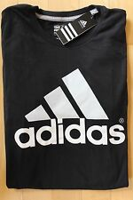 NWT ADIDAS MEN'S Big & Tall Black/White Logo Go To Performance T-Shirt 3XL