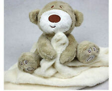 New Cute Bear Baby Infant Blanket Soft Coral Fleece Baby Toys Appease Towel 2015