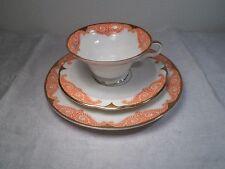 antik 1 Gedeck Porzellan Rosenthal Tasse Teller Unterteller orange gold 431 g