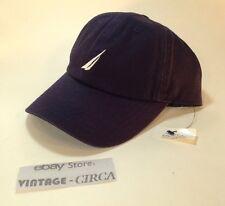 *NEW* NAUTICA Hat Cap 100% Cotton, 6 Panel,  NAVY BLUE WHITE, OSFA, RN 67835