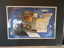12x18 in Watercolor Painting Polaroid SUR 600 by David Caswell Illustrations