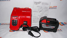 New (1) Milwaukee M18 48-11-1890 18V High Demand Battery 9.0Ah & Rapid Charger