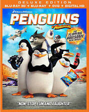 BLU-RAY Penguins of Madagascar (Blu-Ray +DVD; 3D/2D) NEW 2D & 3D