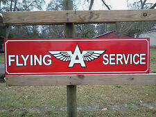 BRAND NEW! Vintage style FLYING A SERVICE SIGN auto parts 1'x4' METAL dealer