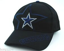 TWINS ENTERPRISES NFL DUAL STAR FOOTBALL HAT/CAP - DALLAS COWBOYS - OSFM - BLK