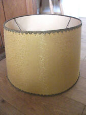 "Vintage Retro Large Drum Standard Lampshade .13.5"" h & 19"" diameter."