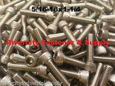 (10) 5/16-18x1-1/4 Socket Allen Head Cap Screw Stainless Steel .3125 x 1.25