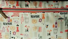"""Clinique Cosmetic Makeup Bag New York City NYC Theme Zippered New/Unused 8.5""""x5"""""""