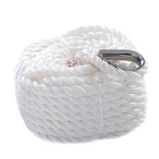 "1/2""x100' Twisted Three Strand 6600LBS Nylon Anchor Rope Boat Sailboat GOPLUS"